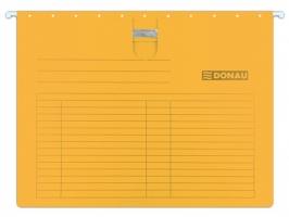 Závěsná papírová deska s rychlovazačem Donau - A4, 230 g, oranžová