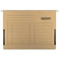 Závěsná papírová deska s bočnicemi Donau - A4, 230 g/m2, hnědá