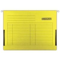 Závěsná papírová deska s bočnicemi Donau - A4, 230 g/m2, žluté