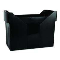 Zásobník na závěsné papírové desky Donau - A4, plastový, černý