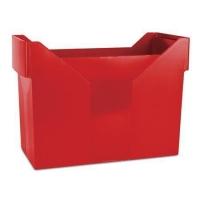 Zásobník na závěsné papírové desky Donau - A4, plastový, červený