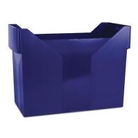 Zásobník na závěsné papírové desky Donau - A4, plastový, modrý