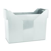 Zásobník na závěsné papírové desky Donau - A4, plastový, šedý
