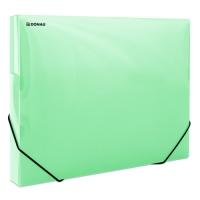 Box na spisy A4 Donau - s gumou, plastový, transparentní zelený