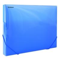Box na spisy A4 Donau - s gumou, plastový, transparentní modrý