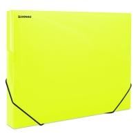Box na spisy A4 Donau - s gumou, plastový, transparentní žlutý