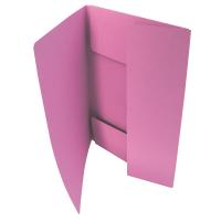 Odkládací mapa Classic - A4, 3 klopy, růžová