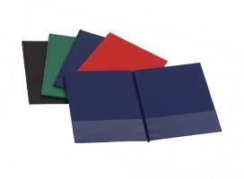 Psací desky s kapsami - A4, vodorovné, plastové, modré