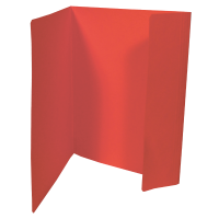 Odkládací mapa Prešpán  A4, 1 klopa, červená