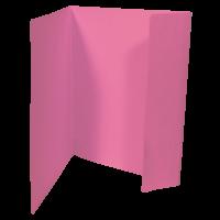 Odkládací mapa Prešpán  A4, 1 klopa, růžová