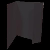 Odkládací mapa Prešpán - A4, 1 klopa, černá