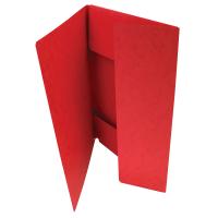 Odkládací mapa Prešpán - A4, 3 klopy, červená