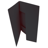 Odkládací mapa Prešpán - A4, 3 klopy, černá