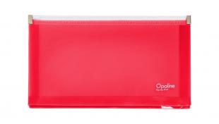 Obálka s plastovým zipem DL - plastová, transparentní růžová