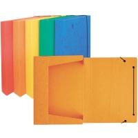 Box na spisy A4 - s gumou, prešpán, oranžový