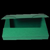 Box na spisy A4 - s gumou, prešpán, zelený