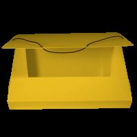 Box na spisy A4 - s gumou, prešpán, žlutý