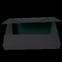 Box na spisy A4 - s gumou, prešpán, černý
