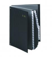 Podpisová kniha 1-31 - PVC, černá