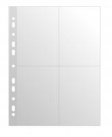 Prospektový obal na foto - A4, lesklý, 60 my, 4 okénka, 10x15 cm, 10 ks