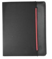 Diplomatka na gumičku Sakota - A4, blok 20 listů, černo-červená