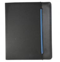 Diplomatka na gumičku Sakota - A4, blok 20 listů, černo-modrá