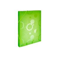 Box na spisy A4 Neo Colori - s gumou, plastový, zelený - DOPRODEJ