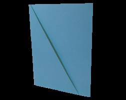 Odkládací mapa s rohem - A4, classic, karton, modrá