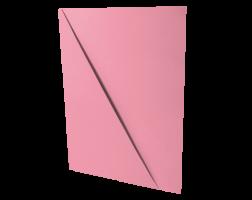 Odkládací mapa s rohem - A4, classic, karton, růžová