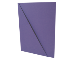 Odkládací mapa s rohem - A4, classic, karton, fialová