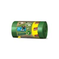 Recyklovaný sáček do koše 35 l Fino LD Green Life - 50x55+13 cm, 25 my, zelený, 22 ks