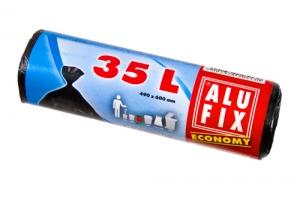 Sáček do koše 35 l Alufix Economy - 8 my, černý, 30 ks