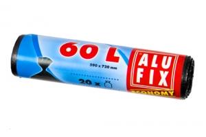 Sáček do koše 60 l Alufix Economy - 13 my, černý, 20 ks