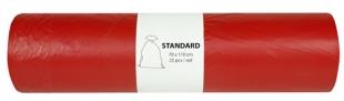 Pytel na odpad 120 l Alufix Standart - 23 my, červený, 25 ks