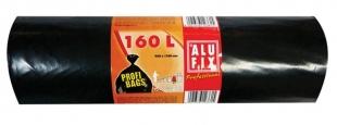 Pytel na odpad 160 l Alufix Professional - 45 my, černý, 10 ks