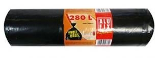 Pytel na odpad 280 l Alufix Professional - 60 my, černý, 5 ks
