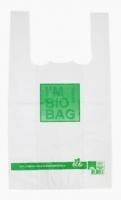 Kompostovatelná BIO taška - 30+18x60 cm, 18 my, bílá, 50 ks