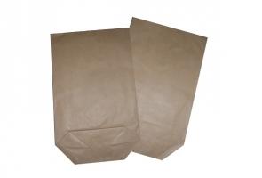 Kupecký papírový sáček 1 kg - plochý, 17x28,5 cm, hnědý, 15 kg