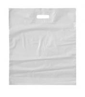 Igelitová taška s průhmatem - 38x45+6 cm, bílá