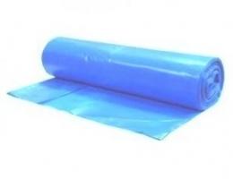 Pytel na odpad LDPE 240 l - 100x120 cm, 80 my, modrý, 5 ks