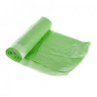 Zatahovací sáček do koše 60 l - 60x80 cm, 15 my, zelený, 10 ks