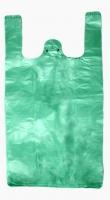 Mikrotenová taška Mini - 16+12x30 cm, zelená, 100 ks