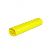Zatahovací sáček do koše 30 l - 50x60 cm, 10 my, žlutý, 15 ks