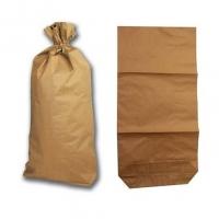 Papírový pytel - 50x90+14 cm, dvouvrstvý, hnědý