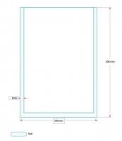 Vakuový sáček - 300x300 mm, 80 my, 500 ks