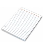 Náhradní listy do kroužkového bloku A5 Karis - linkované, 100 listů