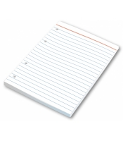 Náhradní listy do kroužkového bloku A6 Karis - linkované, 100 listů