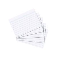 Karty do kartotéky A7 - linkované, bílé, 100 listů