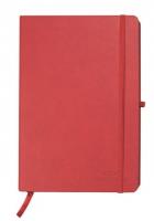 Zápisník Concorde Neapol - A6, linkovaný, s gumou, 80 listů, červený