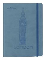 Zápisník Concorde Londýn - A6, s gumou, linkovaný, 80 listů